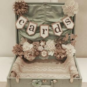 DIY shabby chic wedding card box