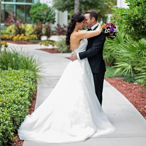 Hilton Orlando bride and groom