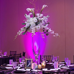 Modern purple ballroom reception
