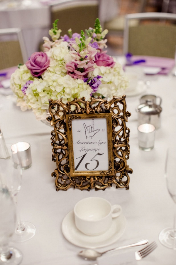 Sign language table number