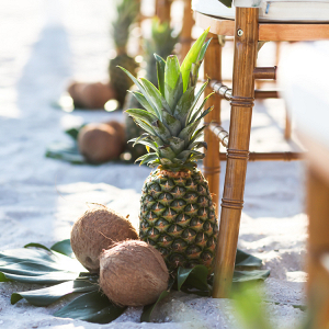 Pineapple and coconut aisle markers