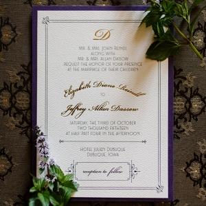 Elegant wedding invitations