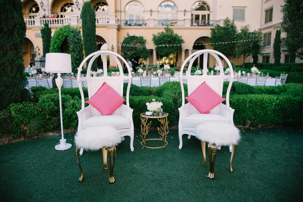 Outdoor wedding reception furniture