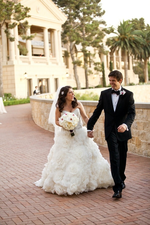 Portrait of an elegant bride and groom at The Resort at Pelican Hill