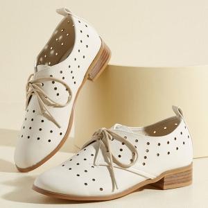 White Bridal Oxfords