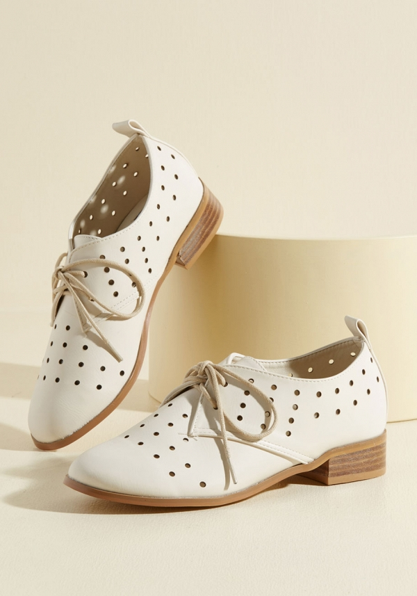 White Bridal Oxfords