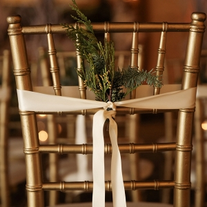 Pine wedding chair decor