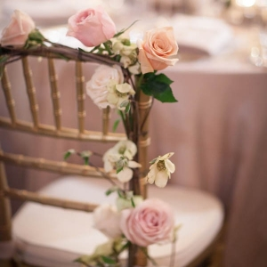 Enchanted forest chair garland with roses