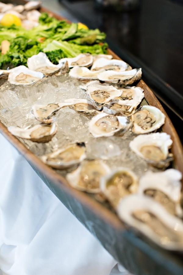 Nautical wedding oyster bar