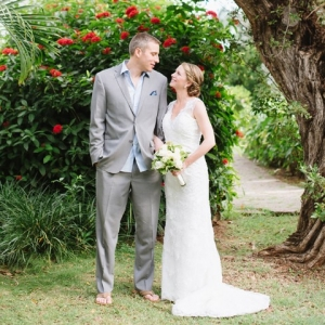 Bride and groom at Half Moon Jamaica