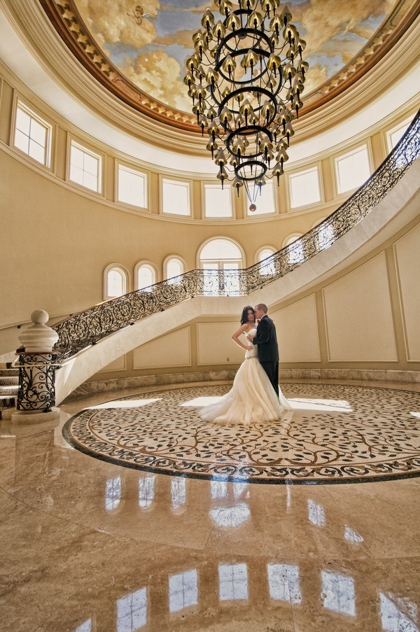 Bride and groom at The St. Regis Monarch Beach