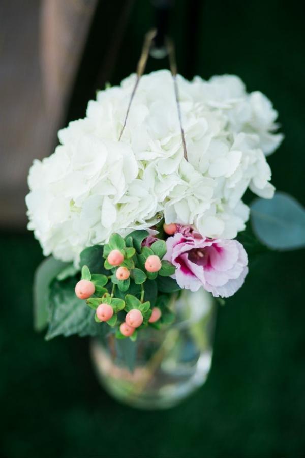 Elegant garden wedding aisle marker