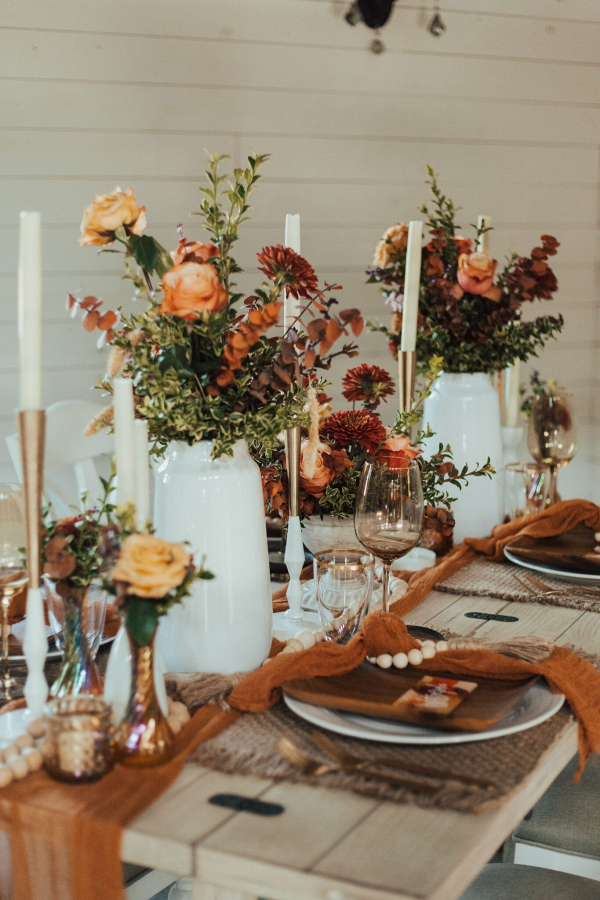 Boho farmhouse wedding table