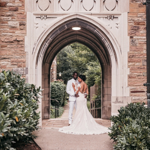 Southern glam wedding portrait