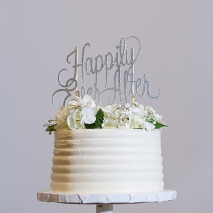 Small white wedding cake