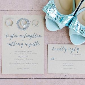 Craft paper invitations
