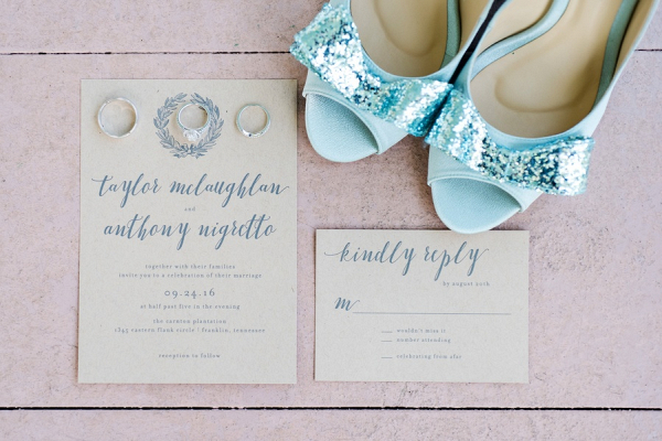 Craft paper invitations