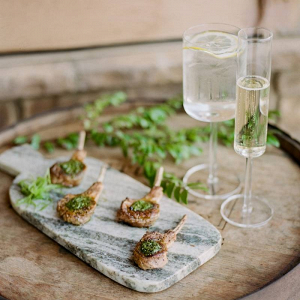 Modern catering options of lamb chop lollipops