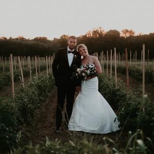 Farm wedding portrait