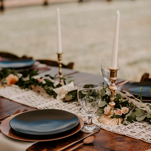 Boho wedding reception table