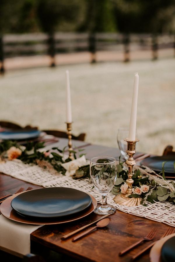 Boho wedding reception table