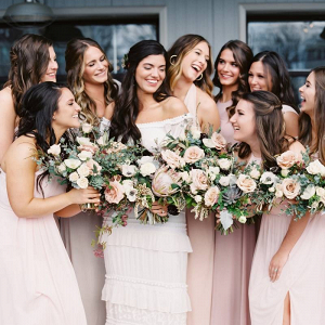 Blush bridal party