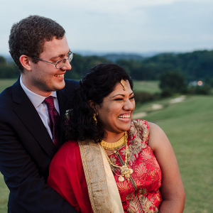 Indian fusion wedding portrait