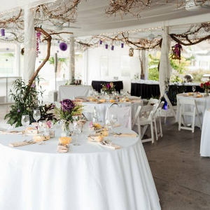 Country club wedding reception