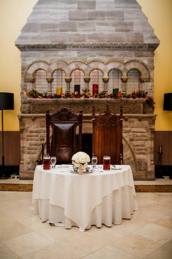 Harry Potter wedding sweetheart table