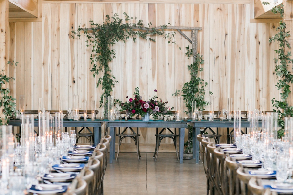 Jewel tone wedding reception
