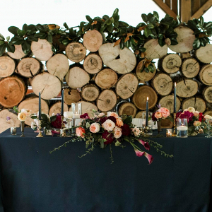 Rustic fall sweetheart table
