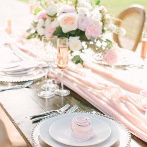 Blush wedding table