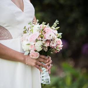 Small pink bridal bouquet