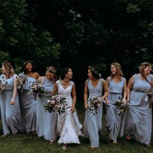 Light blue bridal party
