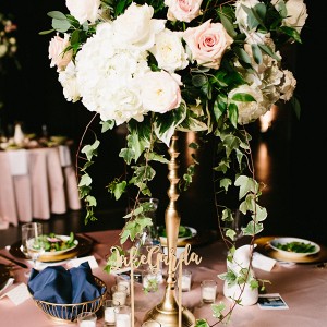 Tall pink centerpiece