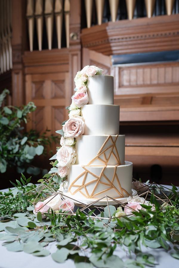 Geometric wedding cake