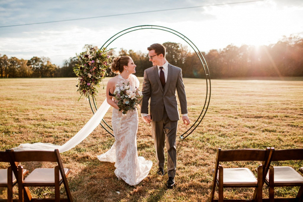 Circle ceremony arch