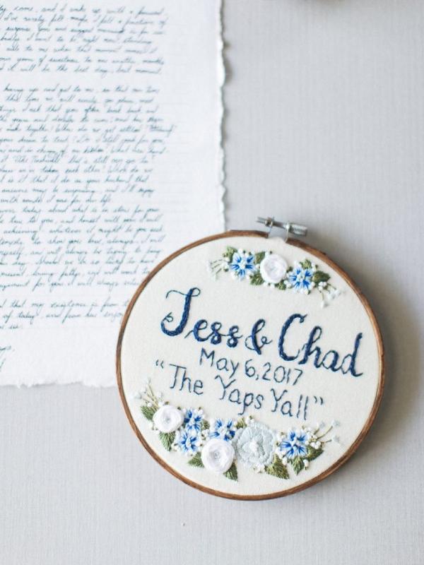 Wedding embroidery