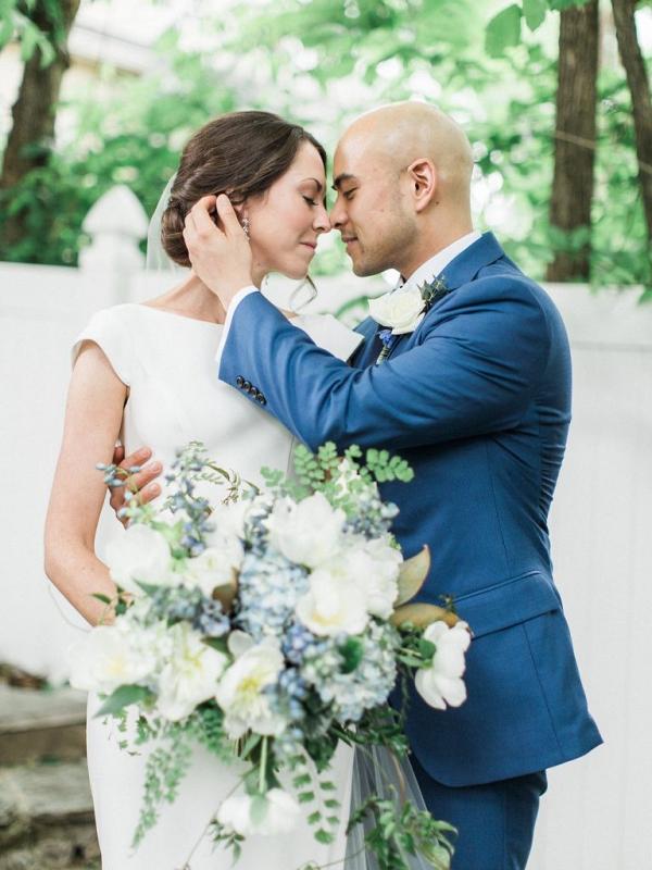 Blue garden wedding