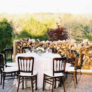 Outdoor farm wedding reception