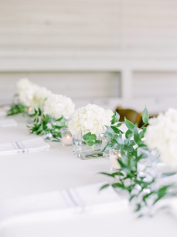 Small white centerpieces