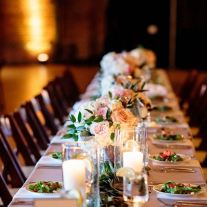 Elegant candlelit wedding table
