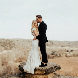 Cliffside wedding portraits