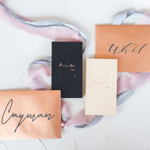 His and Hers vow notebooks