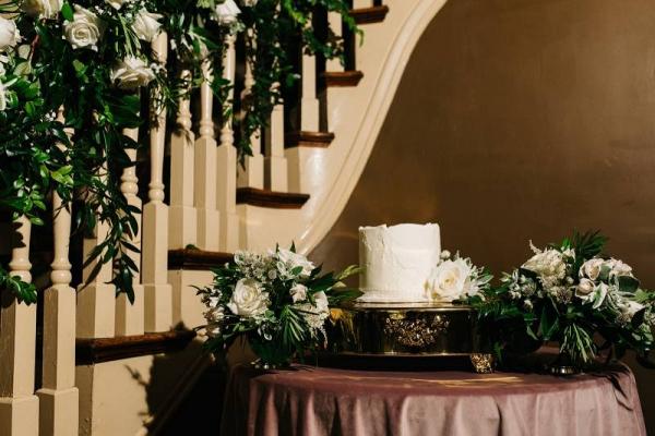 Small buttercream wedding cake