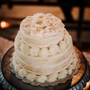Classic buttercream swirl wedding cake