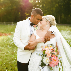 Nashville summer bride and groom