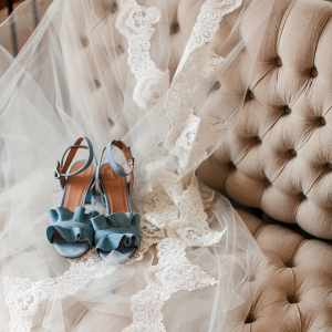 Dusty blue wedding shoes