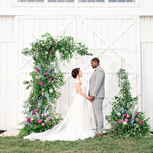 Greenery ceremony backdrop