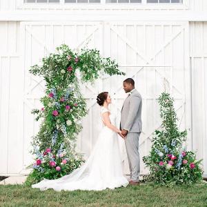 Greenery ceremony backdrop
